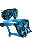 Furplay Harness And Mask Set Blue Leopard