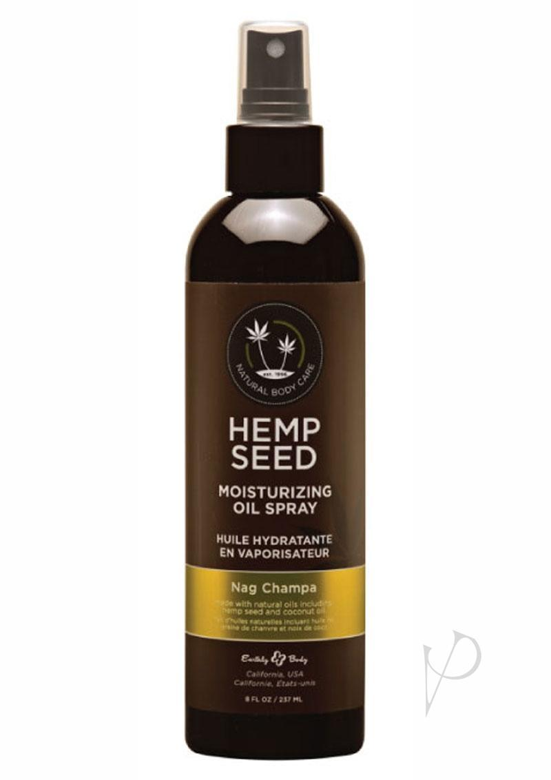 Hemp Seed Moisturizing Oil Spray Nag Champa 8 Ounces