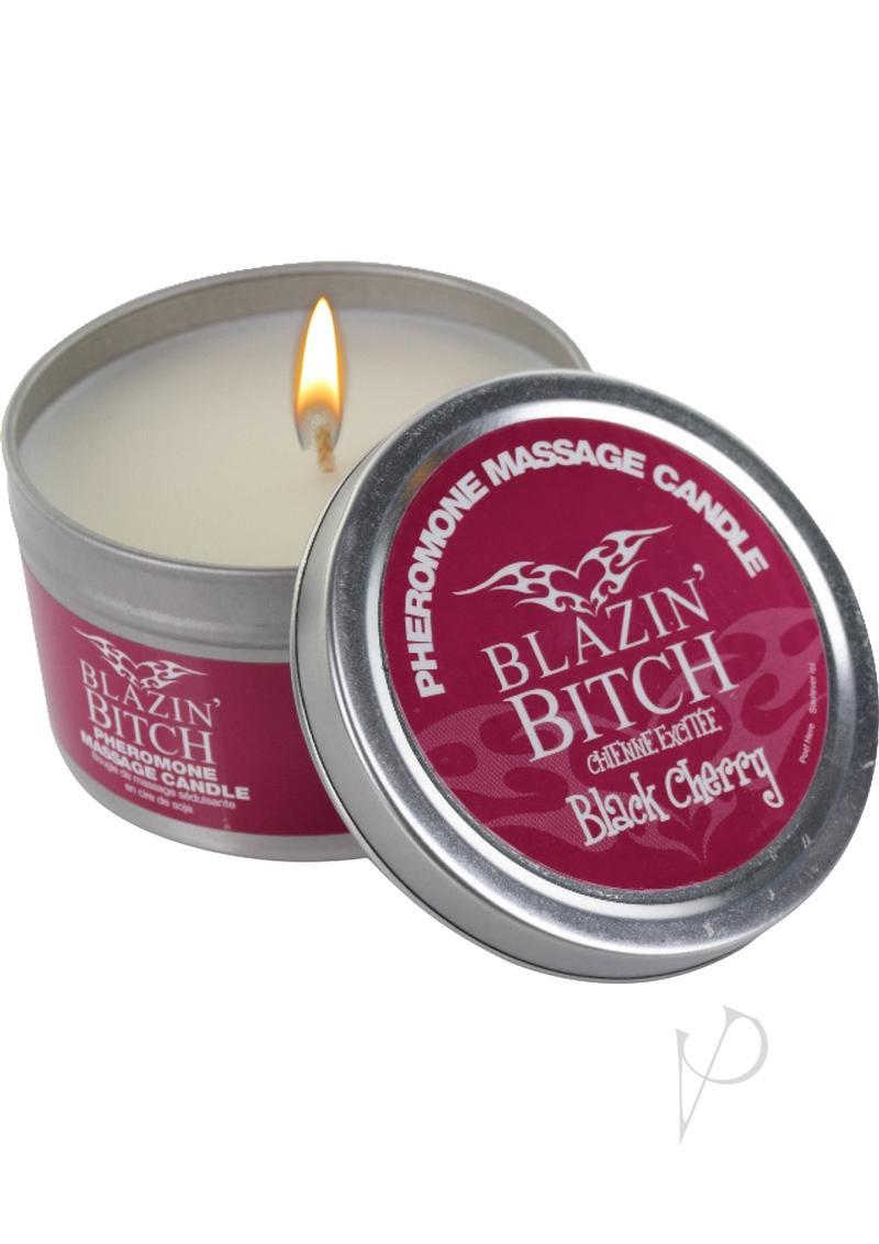 Blazin Bitch Candle With Pheromones Black Cherry 4 Ounce